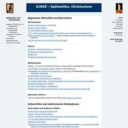 KIRKE - Spätantike, Christentum