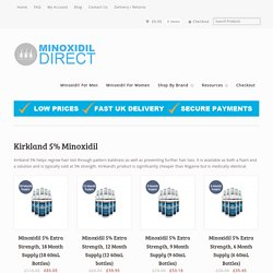Online Offer on Kirkland Minoxidil - Minoxidil-Direct.Com
