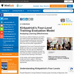 Kirkpatrick's Four-Level Training Evaluation Model - MindTools.com