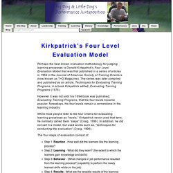 Kirkpatrick's Four-Level Evaluation Model in Instructional Design