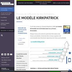 Le modèle Kirkpatrick - Service Formation Continue de l'Université de Strasbourg