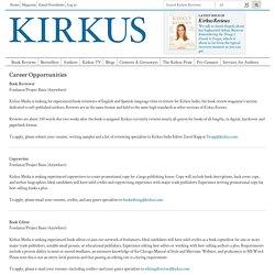 Kirkus Reviews - Careers