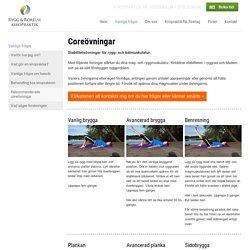 Kiropraktorn rekommenderar coreövningar