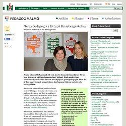 Genrepedagogik i åk 2 på Kirsebergsskolan – Pedagog Malmö