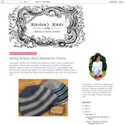 Kirstens Knits: Seeing Stripes, Men's Beanies for Charity