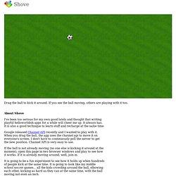 Shove -- Kirubakaran's GAE Channel API Soccer App