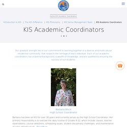 KIS Academic Coordinators