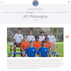 KIS Philosophy