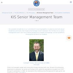 KIS Senior Management Team