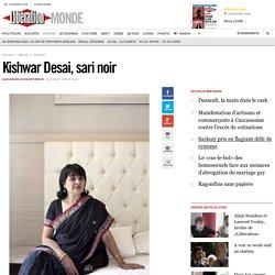 Kishwar Desai, sari noir