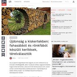 Újdonság a kiskertekben: fahasábból és rönkfából készült kerítések, térelválasztók