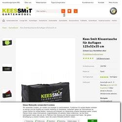 Kees Smit Kissentasche für Auflagen 125x52x35 cm - Schwarz - Kees Smit Gartenmöbel