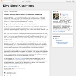 Dive Shop Kissimmee: Scuba Diving Certification: Learn From The Pros