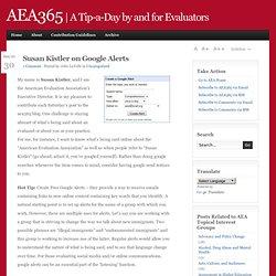 aea365 Google Alerts