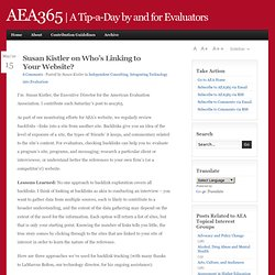 aea365 Inbound Website LInks