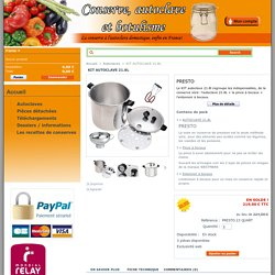 KIT AUTOCLAVE 21.8L - Faire ses conserves