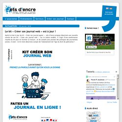 Le kit «Créer son journal web» est à jour !