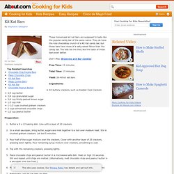Kit Kat Bars - Recipe for Kit Kat Bars