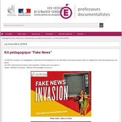 """Kit pédagogique """"Fake News"""" (académie de Nouvelle-Calédonie)"""