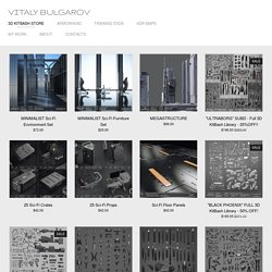 BUY 3D KITBASH SETS — Vitaly Bulgarov