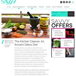 The Kitchari Cleanse: An Ancient Detox Diet : Savvy Tokyo