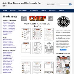 Chef Kitchen - Activities, Games, and Worksheets for kids
