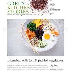 Bibimbap with tofu & pickled vegetables