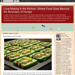 Where Food Goes Beyond the Boundary of Hunger: Pixel Cookies: Link from Zelda