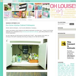 Oh Louise!: Our Home: Kitchen Cabinet Clothespins