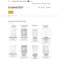 Modern White Kitchen, White Cabinets – Cabinet DIY