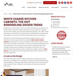 White Shaker Kitchen Cabinets: The Hot Remodeling Design Trend