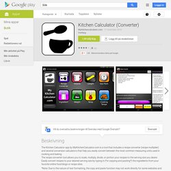 Kitchen Calculator (Converter) – Android-appar på Google Play