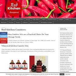 Red Kitchen Canisters – Red Kitchen Accessories