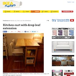 Kitchen cart with drop leaf extension