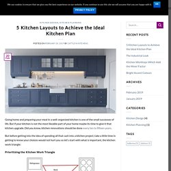 5 Kitchen Layouts to Achieve the Ideal Kitchen Plan