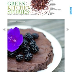 Vegan Chocolate & Blackberry Fudge Cake