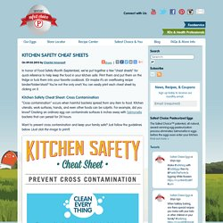 Kitchen Safety Cheat Sheets « Safest Choice™ Pasteurized Eggs - Blog