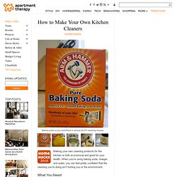 Make Your Own Kitchen Cleaners