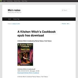 A Kitchen Witch's Cookbook epub free download