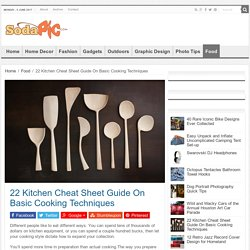 Kitchen Cheat Sheet Guide On Basic Cooking Techniques | Sodapic.com