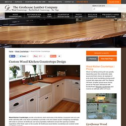 Wood Kitchen Countertops by Grothouse