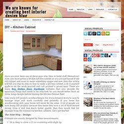 DIY – Kitchen Cabinet
