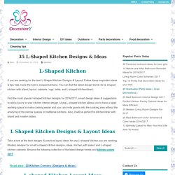 35 L-Shaped Kitchen Designs & Ideas - Decoration Y
