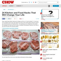 24 Kitchen and Food Hacks That Will Change Your Life - Food News -