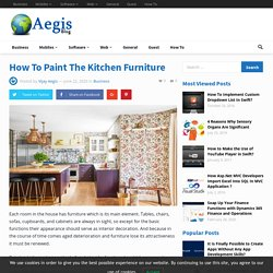 Surprising ideas to paint your kitchen furniture