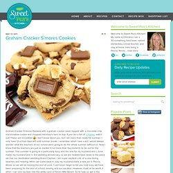 Graham Cracker S'mores Cookies | Sweet Pea's Kitchen