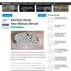Kitchen Hack: One-Minute Bread - Stepcase Lifehack