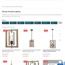 Kitchen Pendant Lighting Solutions Best Suited for Your