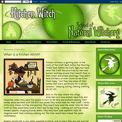 What is a Kitchen Witch?