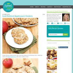 Iced Oatmeal Applesauce Cookies | Sweet Pea's Kitchen